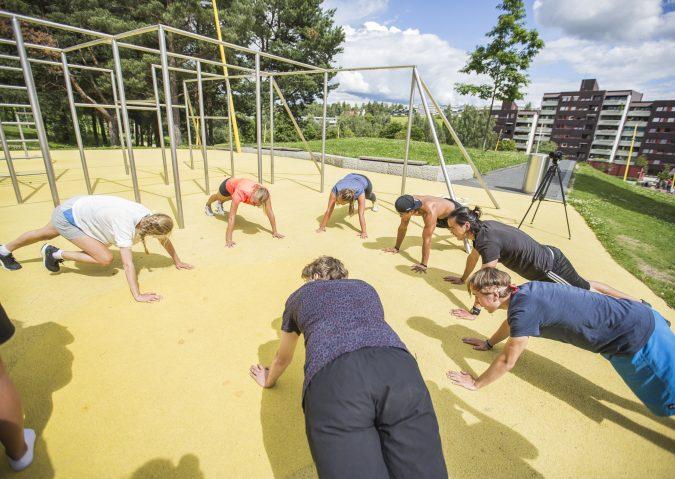 Trening, piknik og lek i Verdensparken