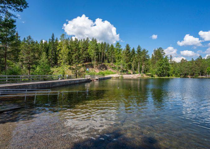 Strømsdammen – badeperle ved Nordmarkas inngangsport