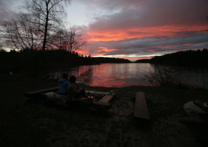 Nøklevann i solnedgang