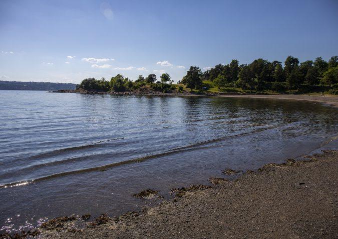 Stranden på Langøyene