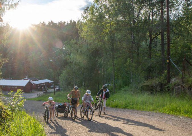 Sykkeltur ved Rustadsaga i Østmarka