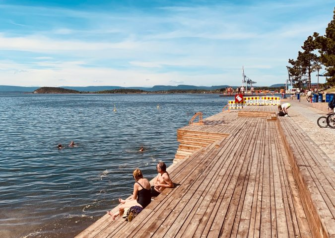 Bekkelagsbadet ligger rett før du tar av til Ormøya.