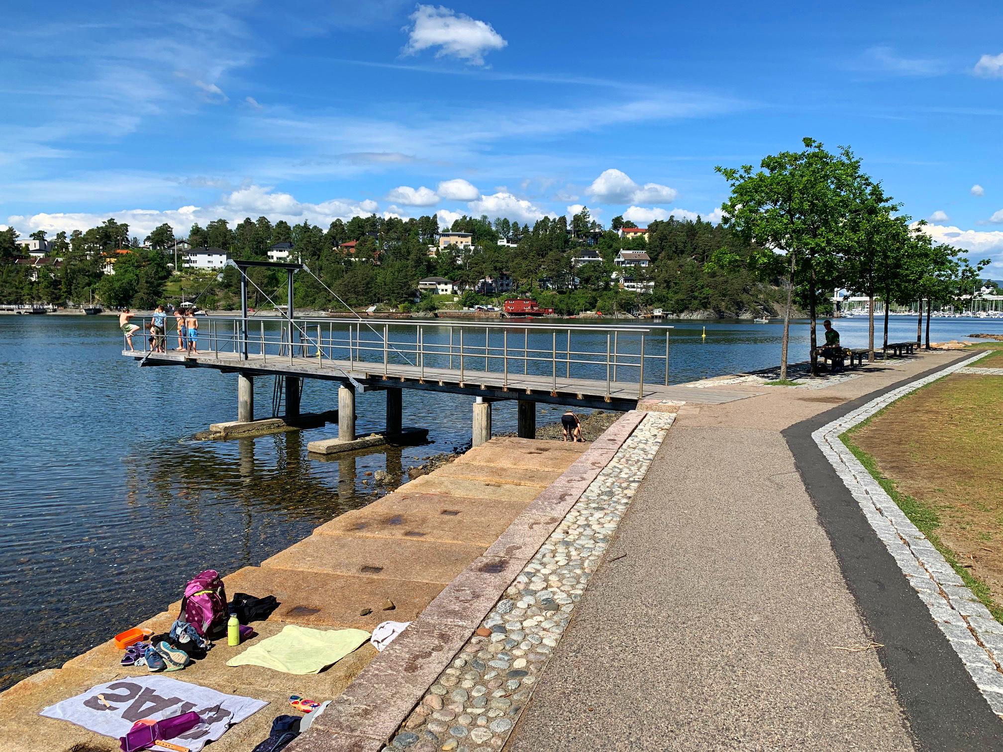 sitios y playas en oslo - Nordstrand bad