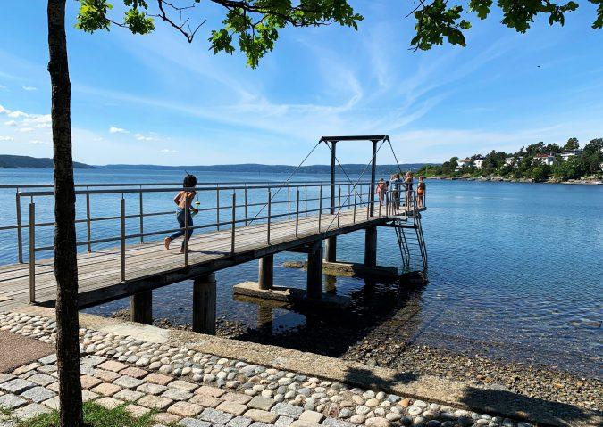 Stupebrygga på Nordstrand bad