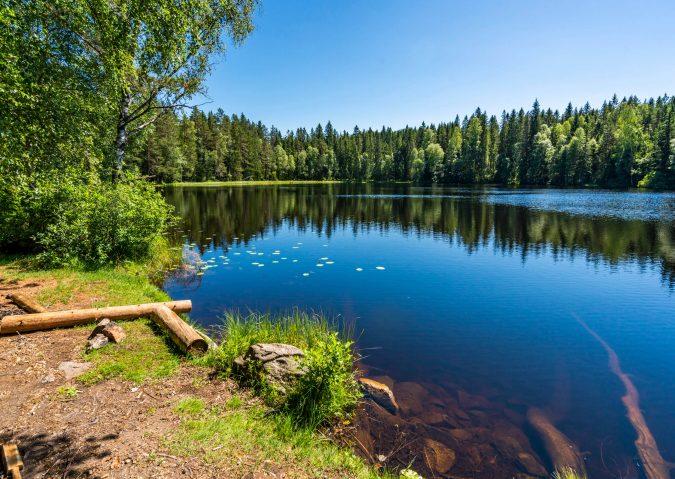 Bade- og bålmuligheter ved Askevannet