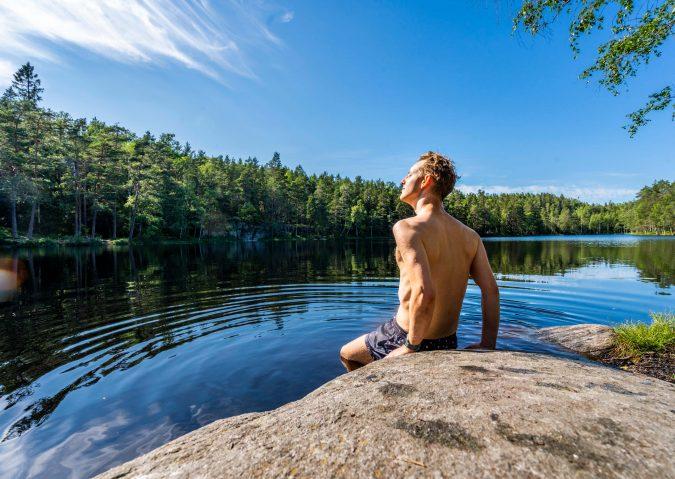 Bortgjemt bademulighet ved Smalvannet